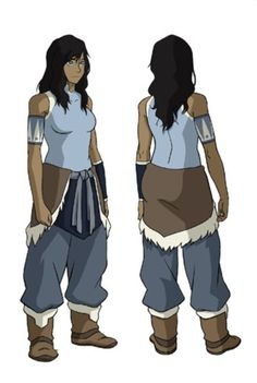 AHHH THIS IS...IS...KORRA WITH HER HAIR DOWN....AND HER ARM BARE.... i wish it was still like this