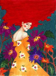 hülya özdemir — looking back is bittersweet Art And Illustration, Illustrations, Arte Pop, Alphonse Mucha, Art Graphique, Portrait Art, Portraits, Painting & Drawing, Modern Art