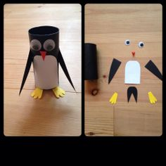 """Penguin"" - Toilet roll craft"