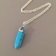 Turquoise Necklace  Turquoise Malachite Chakra by SarahSLJewellery