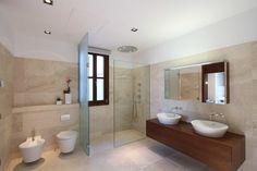 80 Awesome Farmhouse Master Bathroom Decor Ideas And Remodel – Home Design Modern Bathrooms Interior, Modern Bathroom Design, Bathroom Interior Design, Bathroom Designs, Bathroom Ideas, Contemporary Interior, Modern Bedroom, Modern Design, Bathroom Renovations Sydney