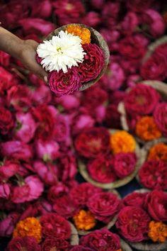 flower market in india Fragrant Diya (Kumbh Mela) By India Photography Kumbh Mela, Mother India, India Colors, Colours, Rich Colors, Vibrant Colors, Fotografia Macro, Arte Floral, Flower Market