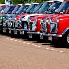 Loads of Mini's Red Mini Cooper, Mini Cooper Classic, Classic Mini, Classic Cars, My Dream Car, Dream Cars, Birmingham, Mini Cooler, Automobile