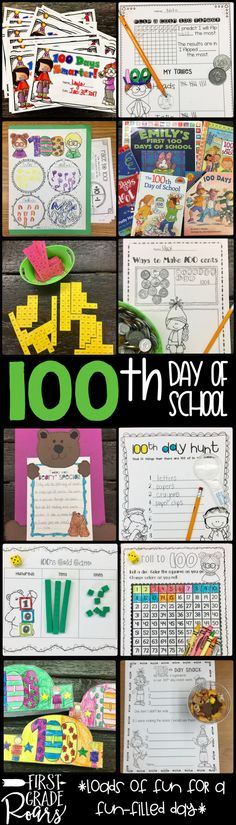 Do you need some fresh ideas for the 100th day of school? This packet is so much fun to complete on the 100th day! Your students will be engaged in math activities, literacy activities, headbands, and a craft! These activities are perfect for first and second grade students who celebrate 100 days of school.