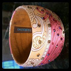 Paisley printed cuff Gently used cuff by Natasha Natasha  Jewelry Bracelets