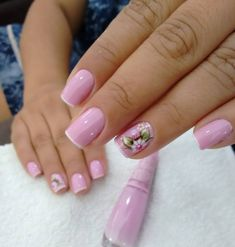 Surra de fofurismo💗😍💅 Cor torta de amora da Impala By . Cute Nail Art, Cute Acrylic Nails, Cute Nails, Pretty Nails, Floral Nail Art, Sexy Nails, Metallic Nails, Luxury Nails, Flower Nails