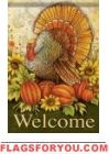 Sunflower Turkey Garden Flag Fall Garden Flag, Autumn Garden, Garden Flags, House Flags, Rooster, Turkey, Thanksgiving, Animals, Decor