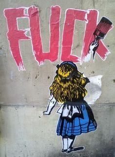 Street art paste up by IZO, world graffiti art, street art, urban artists online, street artists