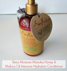 Shea Moisture Manuka Honey & Mafura Oil Conditioner #naturalhair