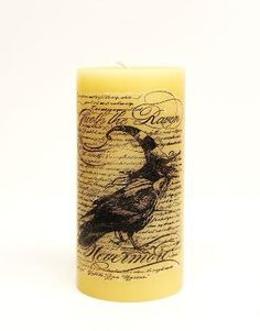 Transferring a Stamped Image onto a Candle #DIY by ophelia