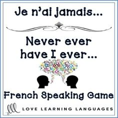 French speaking game for beginners and advanced students alike, a fun NO PREP activity. All students can practice speaking and forming the passé composé wi. Learning French For Kids, French Language Learning, Ways Of Learning, Teaching French, Learning Games, Learning Spanish, Learning Italian, How To Speak French, Learn French