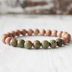 poignet mala Unakite mala Healing bracelet Bracelet par DazzleDream