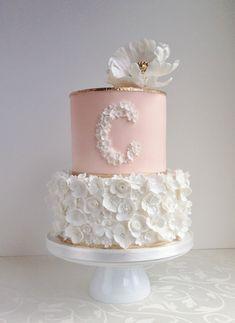 Girls christening cake #babyshowercakes