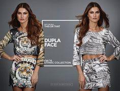 Fashion e prático! Nosso conjuntinho dupla face brinca com as prints apaixonantes de tigre e crocodilo, só falta você escolher qual das duas você quer usar agora!   #fallwintermoikana16