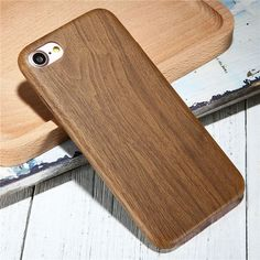 Vintage Wood PU Leather Back Cover Cases For Iphone 7 7Plus 6 Plus Wooden Bamboo Pattern Phone Cases For Iphone7 Plus 6S Iphone5 -0316