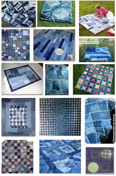 Quilt Inspiration: FREE PATTERN Archive DENIM AND BLUE JEAN QUILTS
