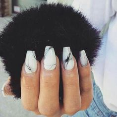Imagen de nails, marble, and black
