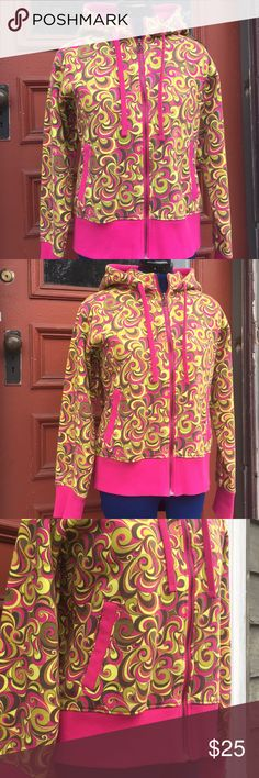 Psychedelic fleece lined hoodie sweatshirt L/XL Good condition. Tag says XL, looks more like a Large. Fleece lined. Super warm and cozy. Last 2 photos depicts the colors more accurately. Any questions just ask :) Dakine Tops Sweatshirts & Hoodies