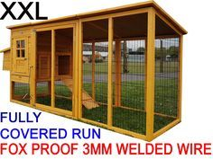 Buckingham - 2017 Model XL 8ft large fox proof chicken coop with run and 3mm WELDED wire & OPENING ROOF FOR EASY CLEANING & ACCESS