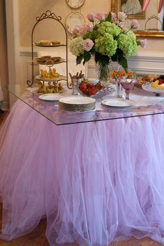 A Little Loveliness: Ballet Recital Soiree or ballet party love the tutu table skirt