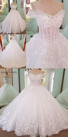 LS00076 Luxury ivory bridal gown off the shoulder beading ball gown lace wedding  dress vestidos de b76387bf2a8a