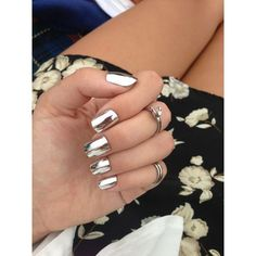 OPI Metallic Chrome Nails (lackfein) ❤ liked on Polyvore featuring beauty products, nail care, opi nail care and opi