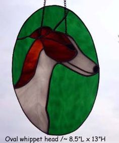Stained Glass Whippet by Cherche Whippets and Stained Glass