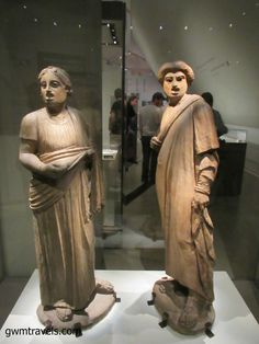 Pompeii: These statues were found at the entrance to a private garden near the theatres.  Made from terracotta, they were originally brightly painted.