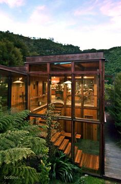 Waterfall Bay House is a spectacular wooden residence designed by Pete Bossley Architects http://www.bossleyarchitects.co.nz/residentialGalleries.aspx?id=7