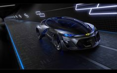 General Motors unveiled their concept car at an event in Shanghai. The self-driving Chevrolet-FNR (shown) has 'dragonfly' swing doors and 'crystal laser headlights'. Shanghai, Mercedes Benz, Automobile, Used Car Prices, Futuristic Cars, Futuristic Vehicles, Car Images, Self Driving, Car And Driver