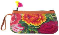 Huipil Wristlet Floral -Gloria (BGG070-FL) - Guatemala
