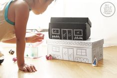 Fun & Free Toy Storage for Kids----------shoe box makeover
