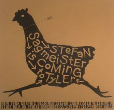 Stefan Sagmeister Lecture Poster