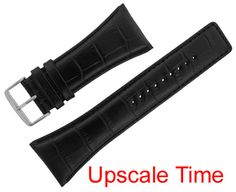 09d8bdaec65 Assorted Watch Strap Alligator Print Black Leather ASRTSTRP8 Cases