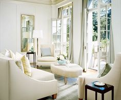 French-inspired home designed by Barbara Barry. Photo by Matthew Millman. Featured in Architectural Digest, November 2005.