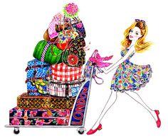 Hello London Watercolor Fashion illustration by sunnygu on Etsy Fashion Prints, Fashion Art, Fashion Models, Fashion Beauty, Fashion Design, Fish Fancy Dress, Hello London, Beautiful Sketches, Fashion Sketches