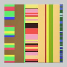 Striped Compostion 3 Gallery Wrap Canvas by MajorThom $236.70