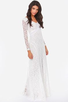 A Moment Like Bliss White Lace Dress at Lulus.com! Cute engagement dress for photos. Cute for bridesmaids dress, or even perfect for a romantic stroll onbthe beach with my man ♥ $75.00