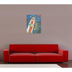 CHAGALL - La Mariee,1950 53x68 cm #artprints #interior #design #art #prints #Chagall  Scopri Descrizione e Prezzo http://www.artopweb.com/EC19177