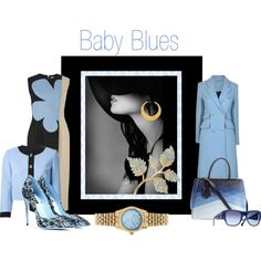 """""""Those Baby Blues"""" by melange-art on Polyvore"""
