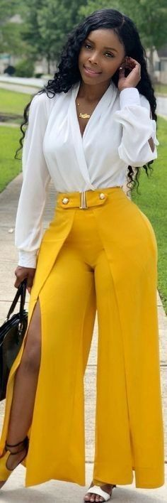 "Fill your closet with these 30 Fall Outfit Ideas You'll Want To Wear All Season Long. ""If you look back in history of the women who are. Classy Outfits, Chic Outfits, Fall Outfits, Fashion Outfits, African Fashion Dresses, African Dress, Beautiful Black Women, Girl Fashion, Womens Fashion"