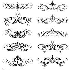 Digital Clip Art Clipart Vintage Inspired Flourish Swirls Digital Scrapbook Wedding Decorations Embellishment Classic Designs Border 10094