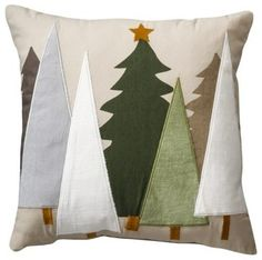 Threshold Felt Tree Toss Pillow contemporary-christmas-decorations - My CMS Christmas Sewing, Noel Christmas, Primitive Christmas, Christmas Projects, Holiday Crafts, Christmas Christmas, Christmas Stockings, Christmas Ornaments, Silvester Trip