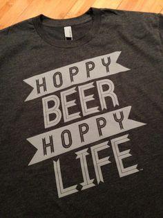 Hoppy Beer Hoppy Life Dark Heather Gray T-Shirt