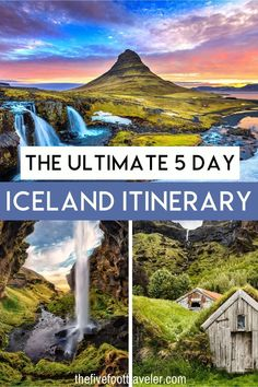 The Ultimate 5 Day Iceland Itinerary. Iceland is incredibly easy to reach from the East Coast of the US and from Europe. Needless to say, you should go; so let's get started planning your Iceland holidays. You should consider an itinerary for Iceland for 5 days, not including your travel days. Iceland Itinerary September | 5 day Iceland Itinerary | Best Iceland Itinerary | Reykjavik Iceland Itinerary | Ring Road Iceland itinerary | Iceland Itinerary Northern Lights
