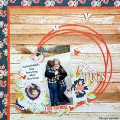 Hugs from Grandma are always the BEST!!! Paper House Productions - One Big Happy Family collection available now at Scrapbook.com.