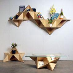 Contemporary shelf or tables- geometric shelf Shape Up Your Space With Geometric Decor
