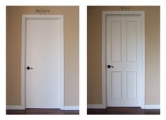 What a difference a few minutes can make! http://luxe-architectural.com/collections/door-moulding-kits-1