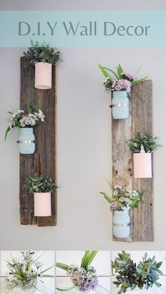 DIY Home decor with a Pallet or Barn Wood. #DIYHomeDecorSigns