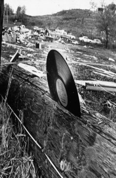 A Tornado Drove This Record Into A Telephone Pole.